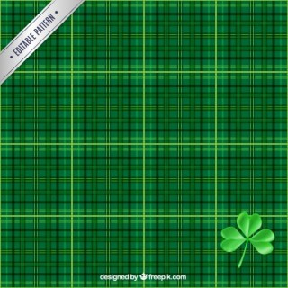 Checked Pattern in Green Tones Free Vector