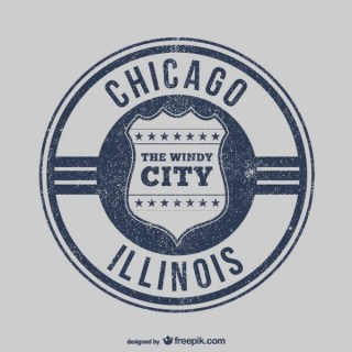 Chicago Stamp Free Vector
