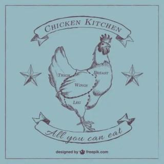 Chicken Cut Diagram Free Vector