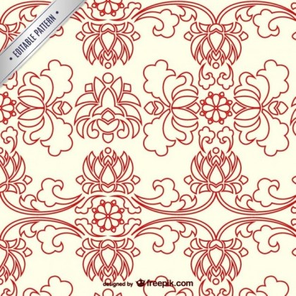 Chinese Floral Pattern Free Vector