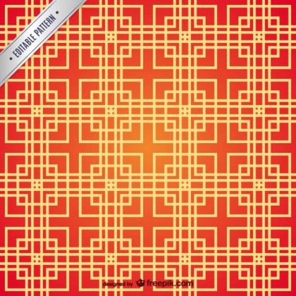 Chinese Squares Pattern Free Vector