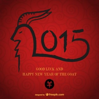 Chinese Year of The Goat Free Vector