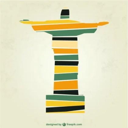 Christ The Redeemer Brazil Art Free Vector