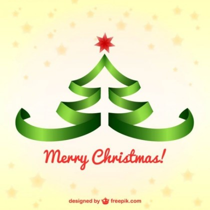 Christmas Background with Lace Christmas Tree Free Vector