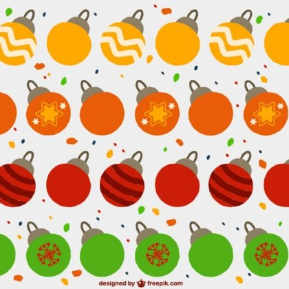 Christmas Balls Pattern Free Vector