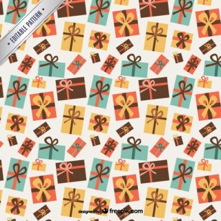 Christmas Gifts Pattern Free Vector