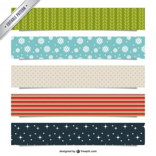 Christmas Patterns Pack Free Vector