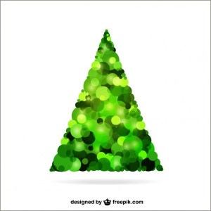 Christmas Tree with Bubbles Free Vector