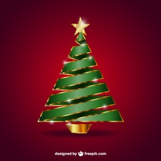 Christmas Tree with Gilded Star Free Vector