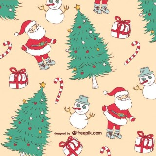 Christmas Vintage Pattern Free Vector