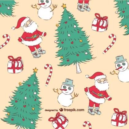 Christmas Vintage Pattern Free Vector