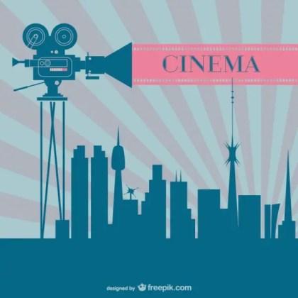 Cinema Industry Retro Background Free Vector