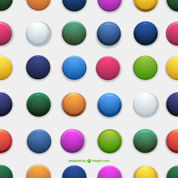 Circle Seamless Pattern Free Vector