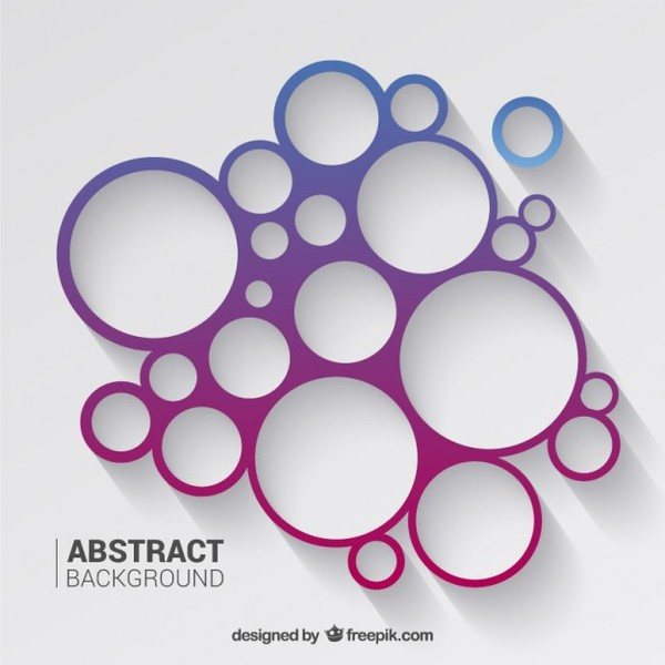 Circles Background in Purple and Blue Tones Free Vector