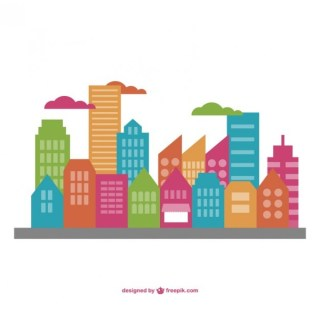 Cityscape Flat Illustration Free Vector