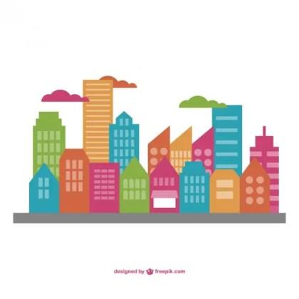 Cityscape Flat Illustration Free Vector