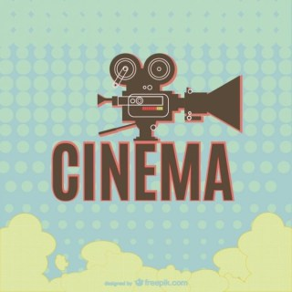 Classic Cinema Retro Camera Design Free Vector