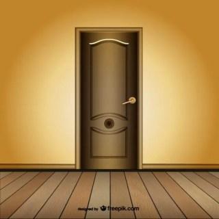 Closed Door Template Free Vector