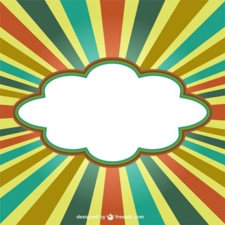 Cloud Banner on Retro Background Free Vector