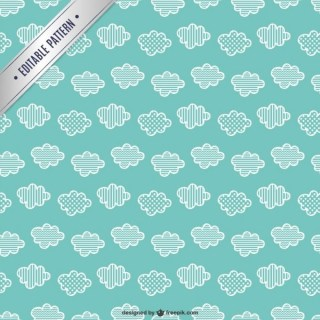Clouds Seamless Pattern Free Vector