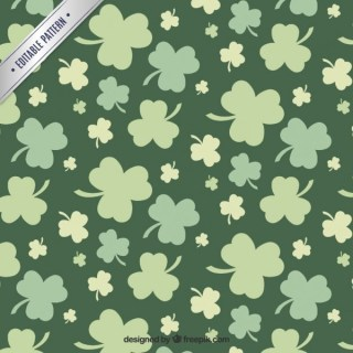 Clovers Pattern Free Vector