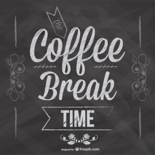 Coffee Break Blackboard Design Free Vector