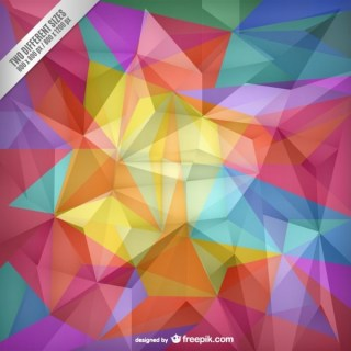 Color Polygons Background Free Vector