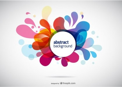 Colored Abstract Background Free Vector