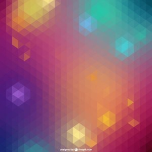 Colored Geometric Background Free Vector