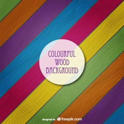 Colored Wood Texture Free Vector