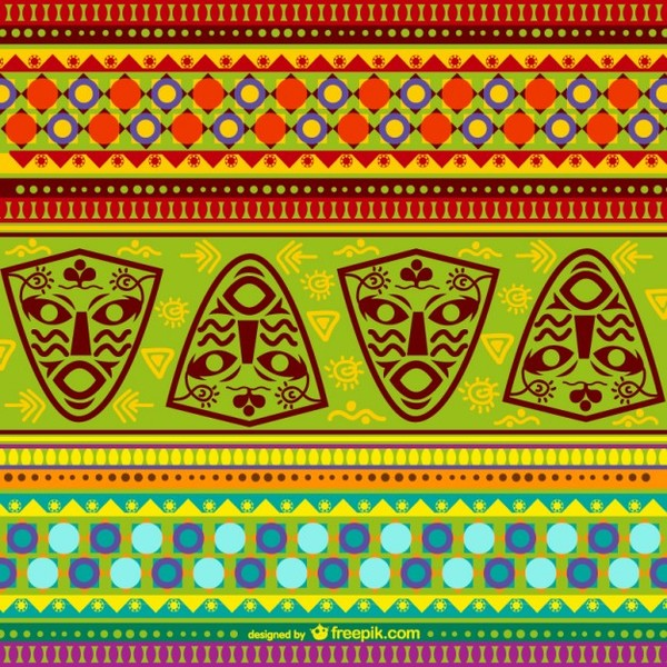 Colorful African Pattern Free Vector