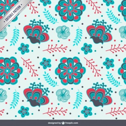 Colorful Arabic Pattern Free Vector