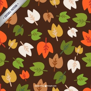 Colorful Autumn Leaves Pattern Free Vector