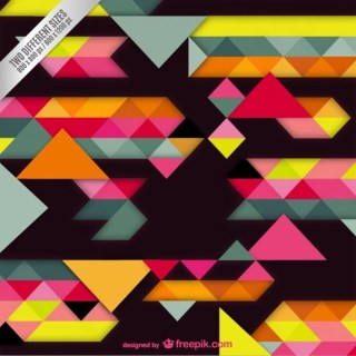 Colorful Background with Geometrical Shapes Free Vector