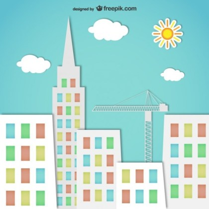 Colorful City Silhouettes Free Vector
