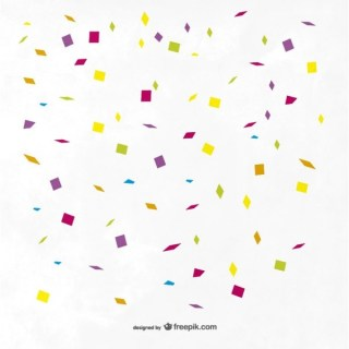 Colorful Confetti Background Free Vector