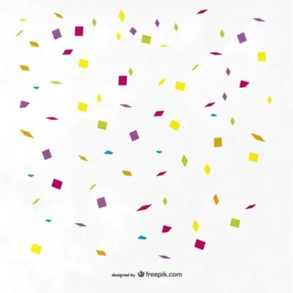 Colorful Confetti Background Free Vector