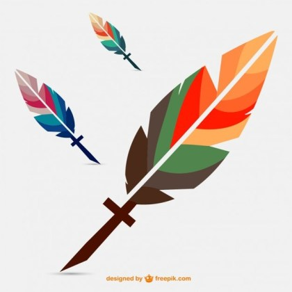 Colorful Feather Image Free Vector