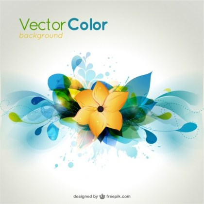 Colorful Flower Background  Free Vector