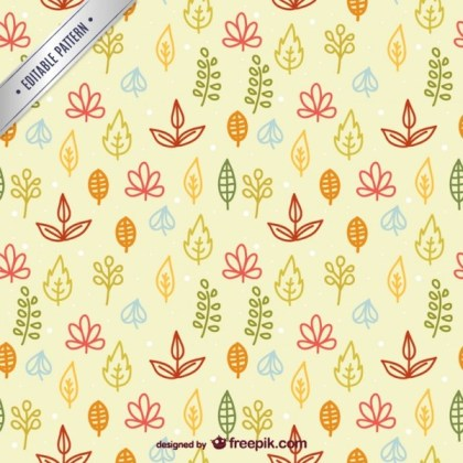 Colorful Leaves Pattern Free Vector
