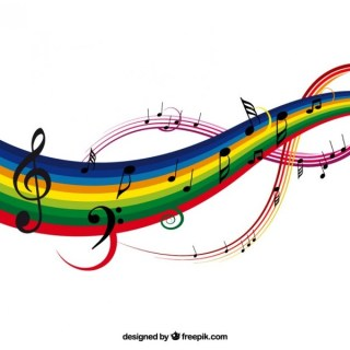 Colorful Music Background Illustration Free Vector