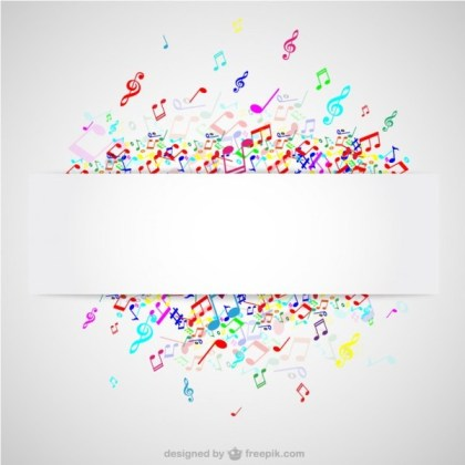Colorful Notes Music Background Free Vector