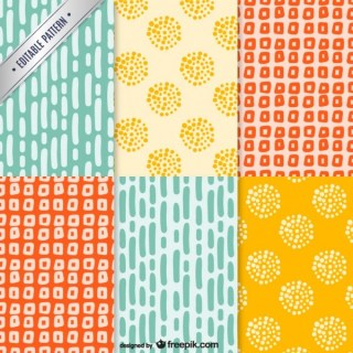 Colorful Pattern Pack Free Vector