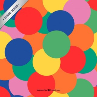 Colorful Pattern Seamless Circles Design Free Vector