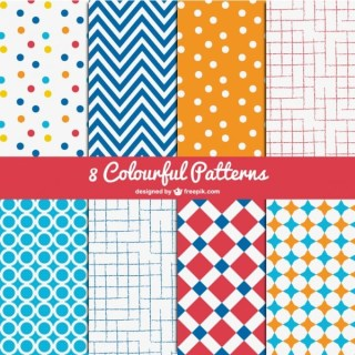 Colorful Patterns Pack Free Vector