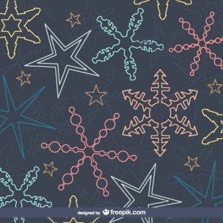Colorful Snowflakes Pattern Free Vector