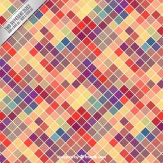 Colorful Squared Background Free Vector