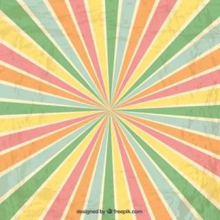 Colorful Sunburst Background Free Vector