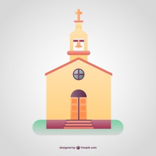 Colorfull Christian Temple Background Free Vector