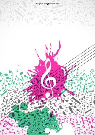 Colorfull Music Notes Free Vector